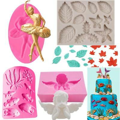 3D Silicone Fondant Mold Cake Decor DIY Chocolate Sugarcraft Baking Mould Tools