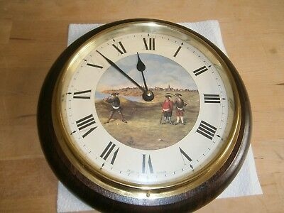 Vintage Roger Lascelles Golf Wall Clock - Good Condition - Diameter 10.5 Inches