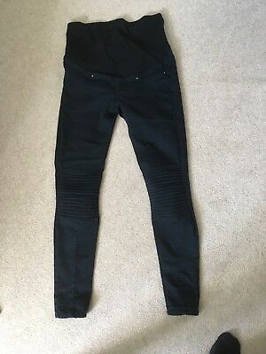Black, Maternity, over the bump, jeans size 10, H&M, skinny, very good condition