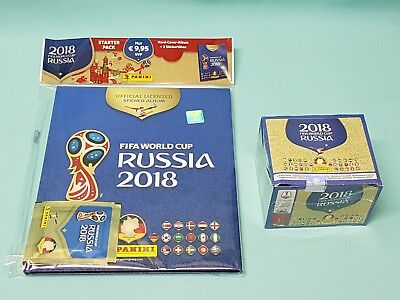 Panini WM 2018 Russia World Cup Sticker Hardcover Album + 1 x Display 100 Tüten