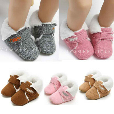 Newborn Baby Girl Boys Winter Warm Cotton Shoes Sneakers Lovely