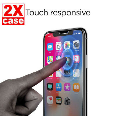 2X iPhone XS MAX 9H Tempered Glass Screen Protector for Apple