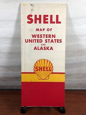 Vintage 1950's Shell Gasoline Gas & Oil Collectible Advertising Alaska Road Map