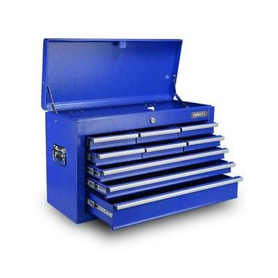 9 Drawers Toolbox Storage Chest Cabinet  - Blue