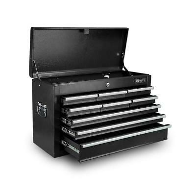 9 Drawers Toolbox Storage Chest Cabinet  - Black