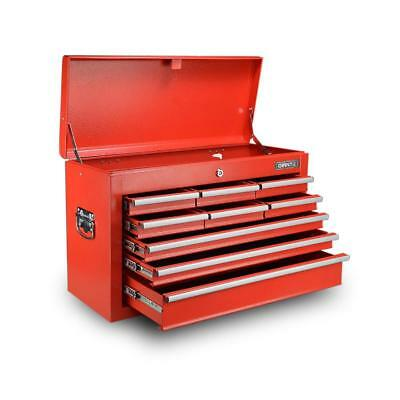 9 Drawers Toolbox Storage Chest Cabinet - Red