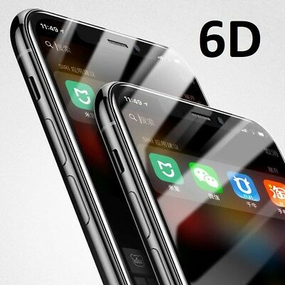 iPhone X XS Max XR 8 7Plus Tempered Glass Screen Protector 6D Curved Full Cover