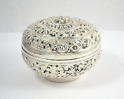 #8171- Ornate Sterling Silver Covered Dresser Jar - Vanity Powder Box with Lid