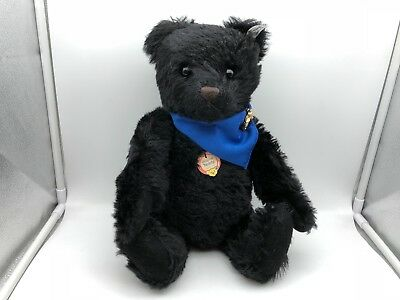 Steiff Tier Teddy Bär 408366 Replika 1961 Black 42 cm. Top Zustand