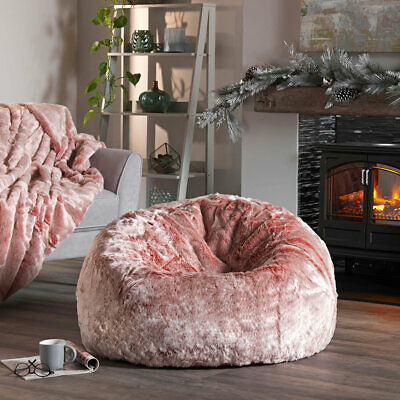 Fine X Large Faux Fur Bean Bag Chair Luxury Adult Beanbag Seat Squirreltailoven Fun Painted Chair Ideas Images Squirreltailovenorg