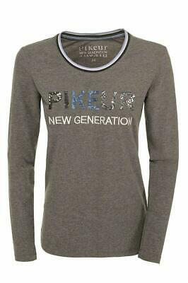 Pikeur Greet Langarmshirt grey melange Shirt New Generation HW 2018