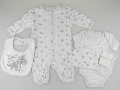 Unisex Baby Boys Girls 5 Piece Clothing Net Bag Layette Gift Set - Love Mummy
