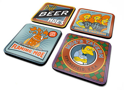 OFFICIAL The Simpsons (Moes Taven) Set Of 4 Coaster /Drinks Mat BY PYRAMID