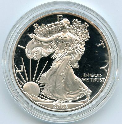 2003 American Eagle Silver Dollar PROOF Coin - West Point Mint - 1 oz