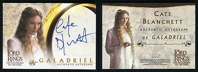 2001 Topps Lord of The Rings Fellowship LOTR Cate Blanchett Autograph Auto Card
