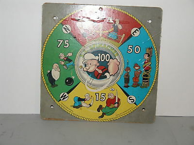 Vintage 1958 King Features Syndicate Popeye S.S. SPINACHER Dart Board Transogram