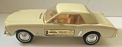 Vintage Jim Beam 1964 Ford Mustang White/Cream Decanter Car - Empty