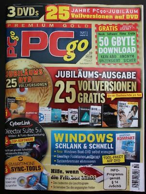 PC go Premium 3 DVDs Nr. 10/2018 Director Suite 5LE Smartphone Sync Tools ...