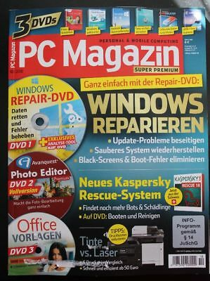 PC Magazin Super Premium 3 DVDs Nr.10/2018 Avanquest Photo Editor Premium Kasper