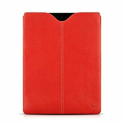 Beyzacases Zero Series Genuine Leather Sleeve for New iPad - Red