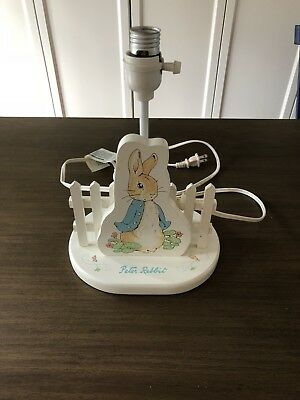 Vintage Beatrix Potter 1994 Eden 2 In 1 Lamp with Night Light Peter Rabbit Stand