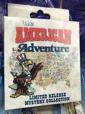 Disney Pin The American Adventure Mystery Collection One Sealed Box With 2 Pins