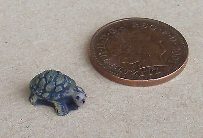 1:12 Scale Brown Resin Turtle Garden Pond Pet tumdee Dolls House Accessory G3