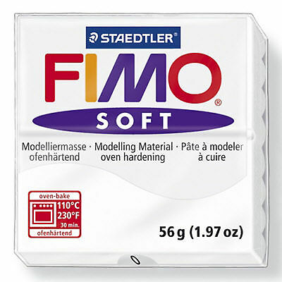 White FIMO Soft 56g Polymer Clay For Moulding Modelling Jewellery Craft Art