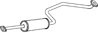 EXHAUST CENTRE MIDDLE SILENCER FOR NISSAN X-TRAIL GDN572 OEM QUALITY