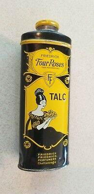 Vintage Friedrich Four Roses Talc Tin Chattanooga