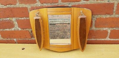 Vintage Retro 1960/70's Wall Hanging Mirror And Brush Set - Cloakroom, Hallway