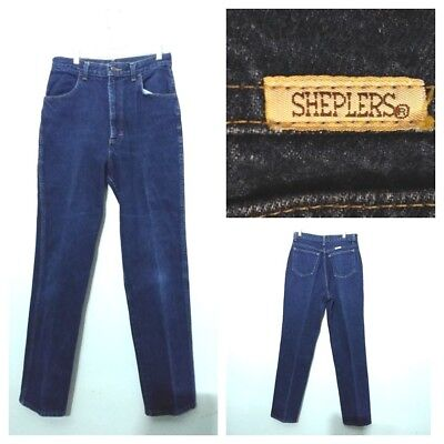 Sheplers Jeans Damen 12, Gemessen 28x30 Vintage 604ms Hohe Taille Inv F4437