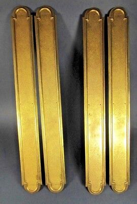 4x Door Push Plates Antique 2 Pair French TALL Large Brass Chateau Finger Plate
