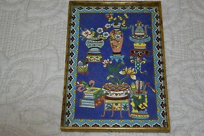 ANTIQUE 19th CENTURY CHINESE CLOISONNE AND BRONZE OPIUM TRAY BOXER REBELLION