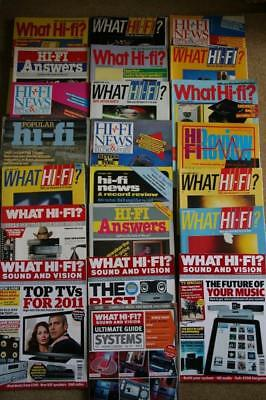 Various Hi-Fi Magazines - 22 Issues - 1981 to 2013 - Great Condition For Age