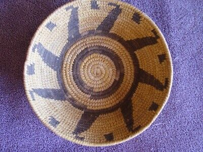 "Old Native American Apache Bowl/Basket Southwest 2.5"" t. x 9"" w. early 1900's"