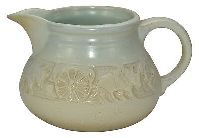 University Of North Dakota Pottery Oxcart Pitcher (Cable)