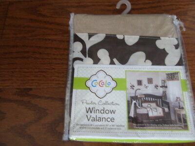 Cocalo Pewter Collection Valance Baby Nursery Window New In Pkg