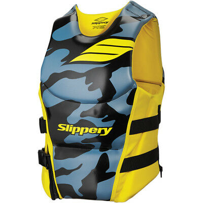Slippery Array Side Entry Neo Vest Steel Blue