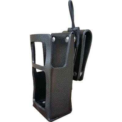 Case Guys GE7290-3AX Hard Leather Holster for Harris HDP 150 Radios