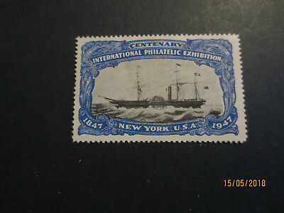 No--6-1947 Centenary  Inter; Philatelic  Expo  New York  U.s.a.--Great  Issue