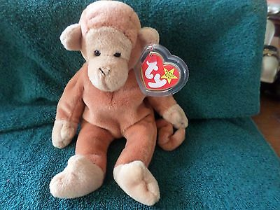 Mwmt Many Errors Ty Beanie Baby Dark Tail Bongo Pvc Pellets Mint