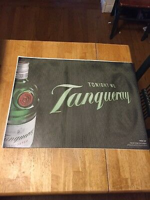 """Store Display/Bar Window Decal Poster """"Tonight We Tanqueray"""" NEW"""