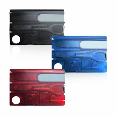 Outdoor Survival Stainles Steel Multi Tools Set Credit Card Size Kit Tool GT