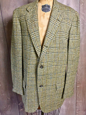 Vtg 1960 Brooks Brothers Tweed Checked Sports Coat 346 Line Union Made Jacket 44