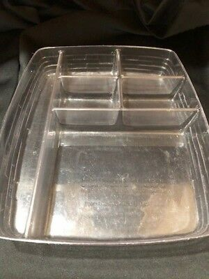 HTF 6 Way Clear Paper Tray Medium Bin Divided Basket Protector Only #44808