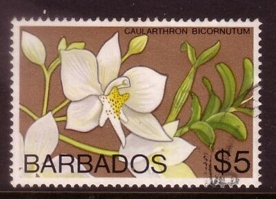 BARBADOS....  1978  $5.00 flower used