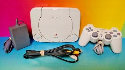 Sony Playstation 1 PSONE Slim PS1 System Console Mini White Great SCPH-101 Works