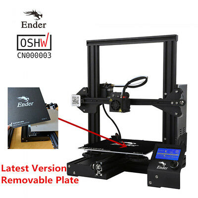 Updated Version with Removable Plate Creality Ender 3 3D Printer 220x220x250mm