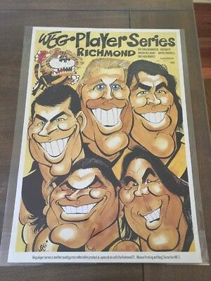 Weg Limited Edition Numbered Richmond Tigers Player Series Poster